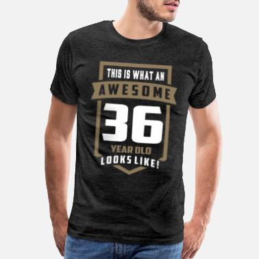 36 Years Old Awesome 36 Year Old - Men's Premium T-Shirt