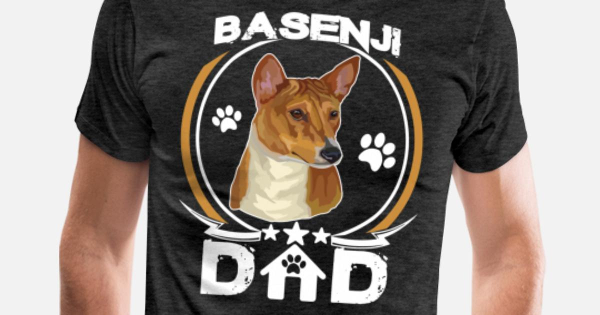 984ff928 Men's Premium T-ShirtBasenji Dad Shirt Fathers Day Gift For Dog Owners
