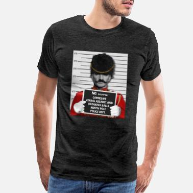 Decoration Xmas Ball Funny Prison Nutcracker Mugshot Jailed Christmas - Men's Premium T-Shirt