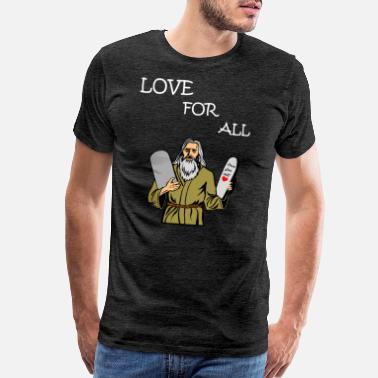 All I Want For Christmas LOVE FOR ALL funny quote cute design gift - Men's Premium T-Shirt