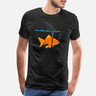 Pool Shark Shark fish mindset self-confidence funny gift - Men's Premium T-Shirt