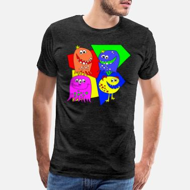 Sweet Monster Colorful Monster Party - Men's Premium T-Shirt