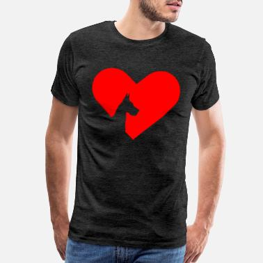 I Love Head Heart Great Dane Heart Dog Lover Gift - Men's Premium T-Shirt