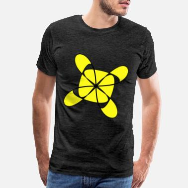 Amusingly Yellow Geometric Shapes - Men's Premium T-Shirt