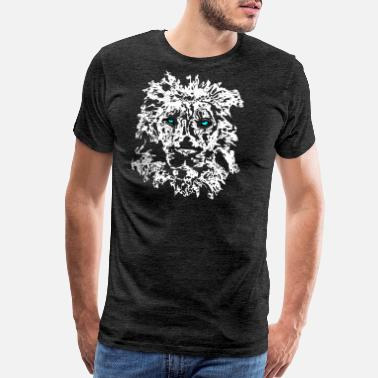 Eyes Of A Tiger lion blue eyes white - Men's Premium T-Shirt