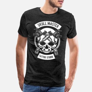 Tattoo Studio Skull Master Tattoo Studio Design Gift Idea - Men's Premium T-Shirt