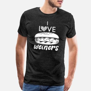 I Love Hamburg I Love Weiners Hotdog Burger Fast Food Lover Gift - Men's Premium T-Shirt