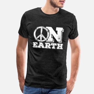 Earth Positive Peace On Earth Peace Sign Pacifist Positivity Gift - Men's Premium T-Shirt