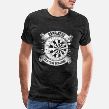Tight Happiness Is A Tight Threesome Darts Game Gift - Men's Premium T-Shirt