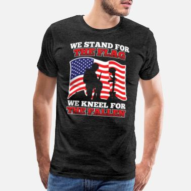 Us Army Veteran Stand For The Flag Kneel For The Fallen America - Men's Premium T-Shirt