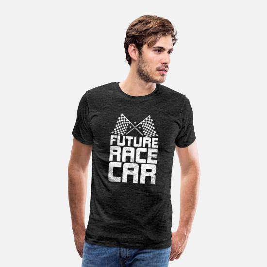 Sportscar T-Shirts - Future Race Car Funny Car Racing Driving Gift - Men's Premium T-Shirt charcoal gray