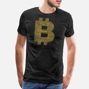 Big Money bitcoin gold nerd pc money digital big winner king - Men's Premium T-Shirt