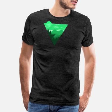 Hiking Heartbeat Camping Shirt I Outdoor Nature Travel Wolf - Men's Premium T-Shirt