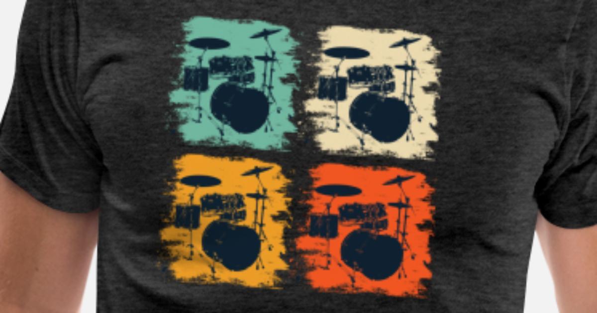 93de8b19f Vine Drums T Shirt Cool Retro Drummer Gift Tee Men S Premium T Shirt  Spreadshirt. Cool Drum Gifts Gift Ideas