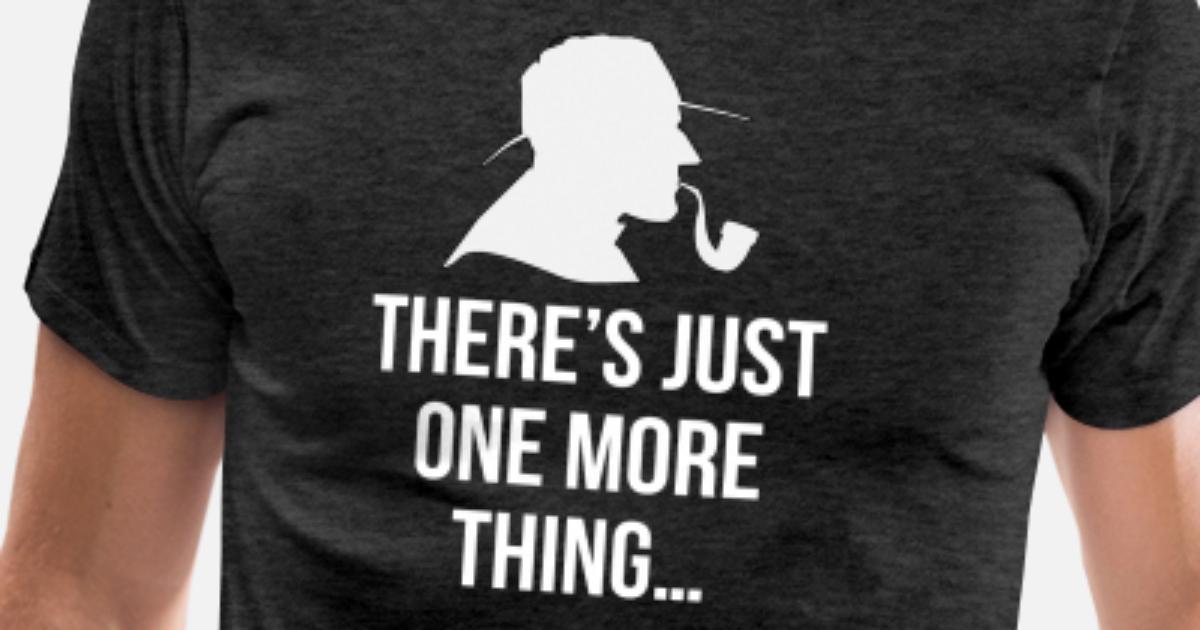 Sherlock Holmes Text Mens PRINTED T-SHIRT Pipe Detective TV Movies