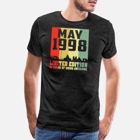 Made in 1998 21th Anniversaire Unisexe T Shirt Adulte Inspiré Cadeau Cadeau de Noël