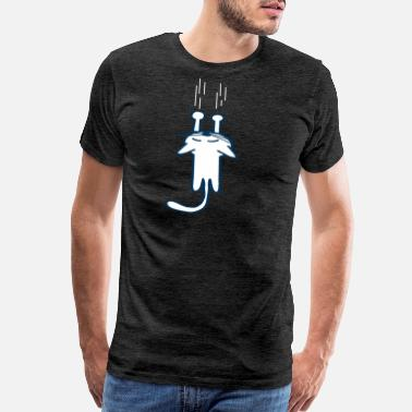 Ying A cat hanging on your shirt - Men's Premium T-Shirt