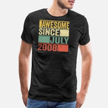 Awesome Vintage July 2008 tee- 11th years old - Men's Premium T-Shirt