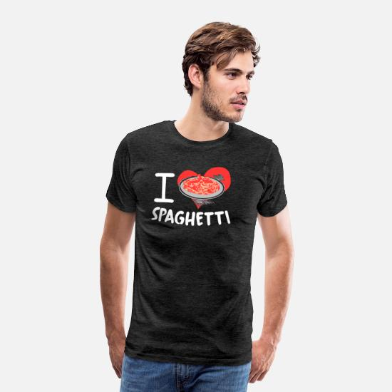Spaghetti T-Shirts - spaghetti - Men's Premium T-Shirt charcoal gray