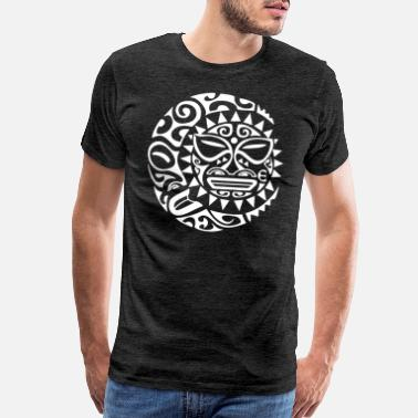 Maori maori tattoo face t-shirt poloshirt white - Men's Premium T-Shirt