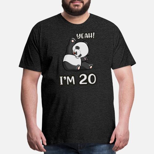 Mens Premium T ShirtPanda 30th Birthday Gift Woman Panda Bear