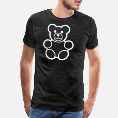 Beard Geek TEDDY BEAR - Men's Premium T-Shirt