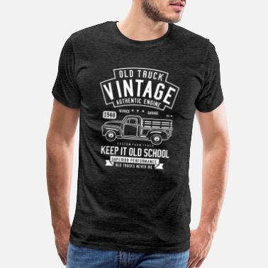 Cars Old Truck Vintage Authentic Engine Design Giftidea - Men's Premium T-Shirt