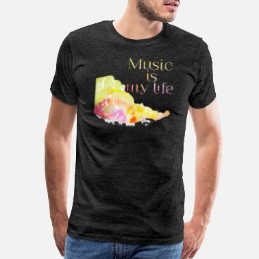 Heart Live Music is Live Love Colorful design - Men's Premium T-Shirt