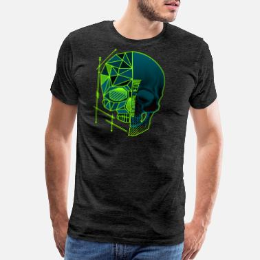Minimum Minimal EDM Skull Polygon - Men's Premium T-Shirt