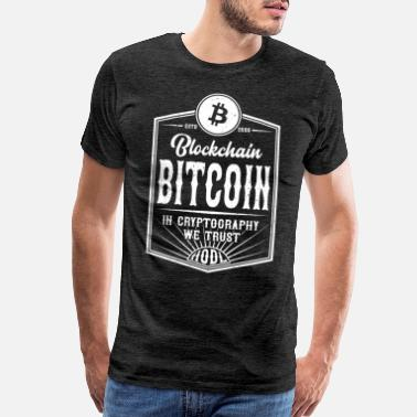 Cryptocurrency Bitcoin - Men's Premium T-Shirt