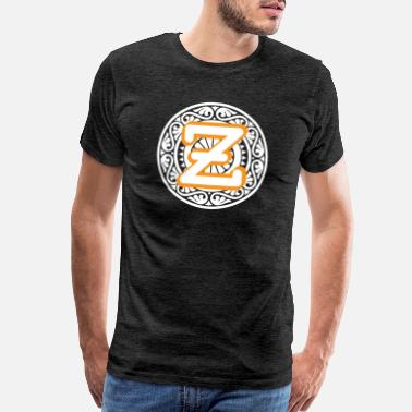 Letters Of The Alphabet Monogram Letter Z Names Emblem 0980-Z-PR - Men's Premium T-Shirt
