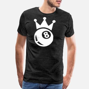 Billiards Player black eight white - Men's Premium T-Shirt