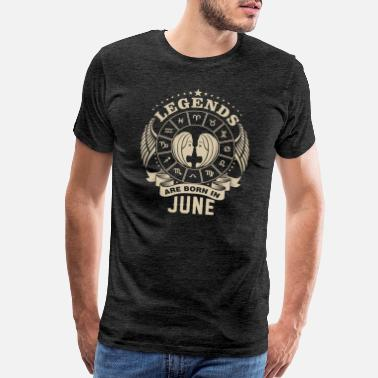 June Birthday Gemini Gemini Legends Are Born June Zodiac T-Shirt - Men's Premium T-Shirt