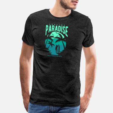 Malibu California Surfing Paradise California Beach - Men's Premium T-Shirt