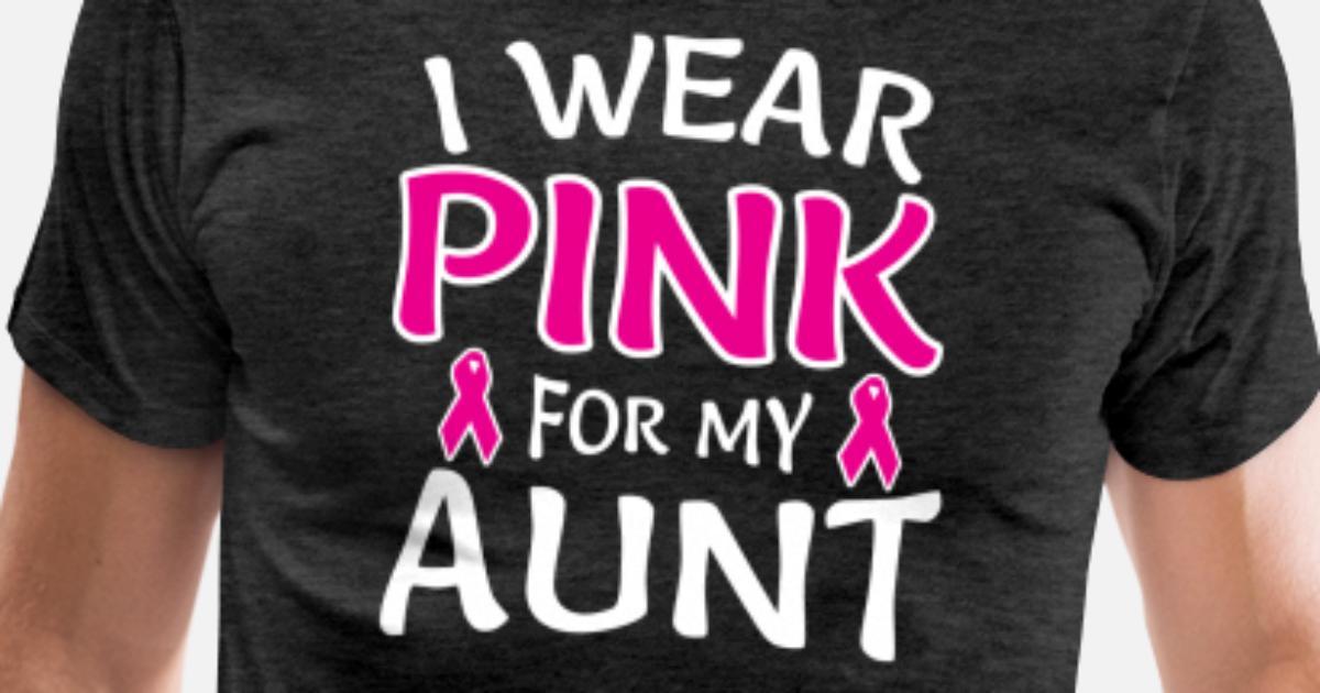 14124add I Wear Pink For My Aunt Shirt Breast Cancer Awaren Men's Premium T-Shirt |  Spreadshirt