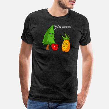 Hawaiian You're Adopted Apples And Pineapple - Men's Premium T-Shirt
