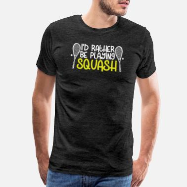 NEW Premium Evolution of Squash Man Hitting Ball Racquet Racket T-Shirt Top