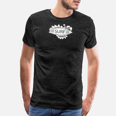 672f762d Tropical Beach Vacation Surfing Hawaiian Design - Men's Premium T-Shirt