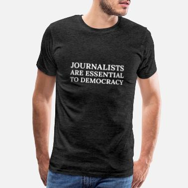 Free-speech Text: Journalists are essential... (white) - Men's Premium T-Shirt