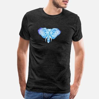 Zentangle Blue Elephant - Men's Premium T-Shirt
