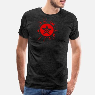 Massachusetts Mass Effect Renegade Splat - Men's Premium T-Shirt
