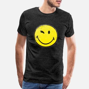 Big Smiley Face yellow wink smiley - Men's Premium T-Shirt