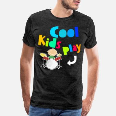Hard Bass Cool Kids Play Drums Music Musician Funny Gift - Men's Premium T-Shirt