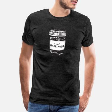 coffee cup take away with cup of happiness, doodle - Men's Premium T-Shirt