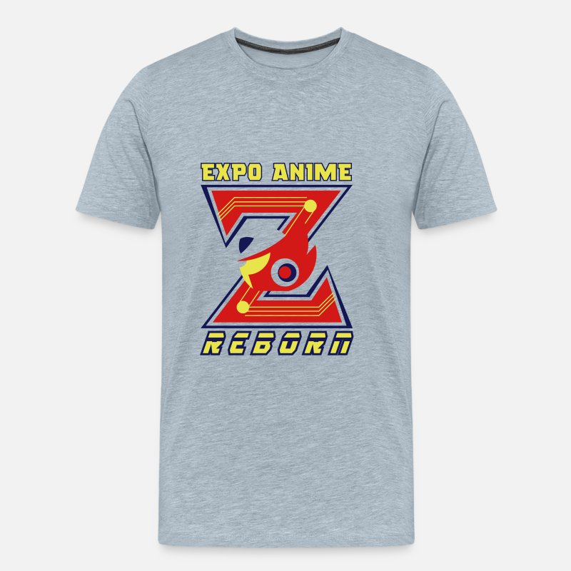 Megaman Zero Event Men's Premium T-Shirt - heather ice blue