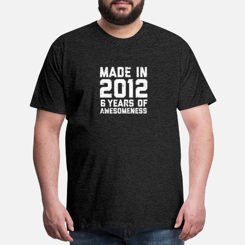 Mens Premium T Shirt6th Birthday Shirt Gift Age 6 Year Old Boy Girl Tshirt Tee