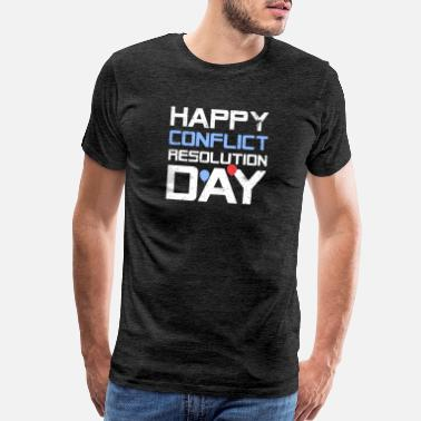 Resolution Happy Conflict Resolution Day - Men's Premium T-Shirt