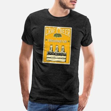 Brewmaster Craft Beer Homebrew - Men's Premium T-Shirt