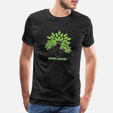 Blue Earth Green Planet fighting for a clean environment - Men's Premium T-Shirt