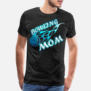 Bowling Shirt Mom Women Fire Ball - Men's Premium T-Shirt